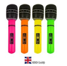 LARGE 66cm INFLATABLE MICROPHONE Blow Up Fancy Dress Party Prop Musical Disco UK