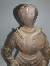 Cast Iron Knight In Armour Door Stop Antique