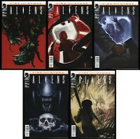 Aliens Fire and Stone Comic Set 1-2-3-4 + Variant #1 Ties in to Prometheus movie