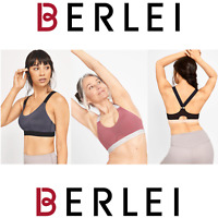 BERLEI Empow-Her Light Impact Crop Bra - Black / Indigo Grey / Apollo Dusk