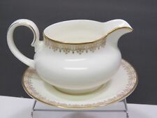 Royal Doulton Gold Lace Gravy Sauce Boat with Underplate