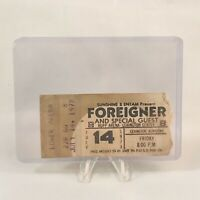 Foreigner Rupp Arena Lexington Kentucky Concert Ticket Stub Vintage July 14 1978