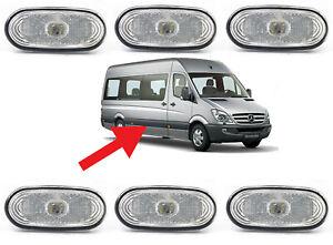6x Side Marker Lights Indicator Lamp for MERCEDES SPRINTER VW CRAFTER LED WHITE