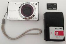 Sony Cybershot DSC-W290 12.1MP Digital Camera Silver Tested Fast Shipping