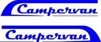 2x blue CAMPERVAN CARAVAN / STICKERS /DECAL /GRAPHIC / MOTORHOME  DECAL12 inch