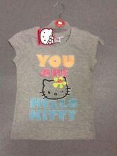 Vêtements T-shirt gris avec col rond pour fille de 8 à 9 ans