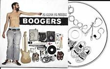 CD CARTONNE CARDSLEEVE COLLECTOR 10T BOOGERS AS CLEAN AS POSSIBLE DE 2010 TBE