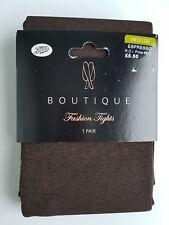 Boots Espresso Brown Boutique Fashion Tights Size Medium
