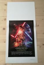 STAR WARS 7 RISVEGLIO DELLA FORZA Locandina Film 33x70 Poster Originale Cinema