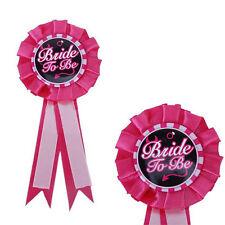Bride To Be Badge Rosette Hen Night Bachelorette Party Accessory Bridal DecoATA