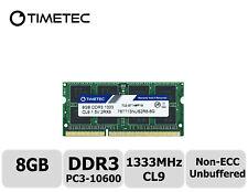 Timetec 8GB DDR3 1333MHz PC3-10600 Non-ECC 1.5V 2Rx8 SODIMM Laptop Memory RAM