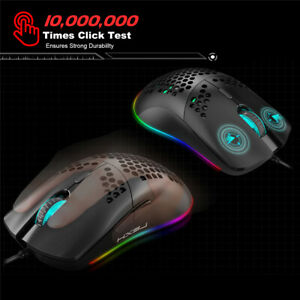 USB Wired Mouse Six DPI J900 RGB Lighting Programmable Gaming Mouse For Gamer