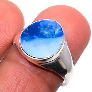 Doublet Fire Opal - Australia Gemstone 925 Silver Handmade Jewelry Ring s.8 T725