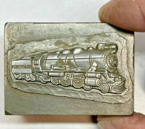 RARE Antique Pennsylvania Railroad Train Jewelry Mold Hub Hob Steel