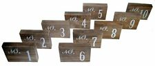Save the Date Natural Wood 5 in x 4 in Decorative Table Numbers 1-10
