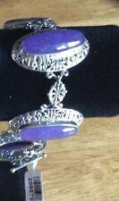 Bracelet - Bali Legacy Purple Jade Sterling Silver Bracelet