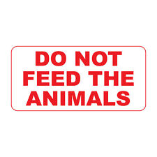 Do Not Feed The Animals Retro Vintage Style Metal Sign - 8 In X 12 In