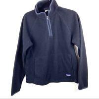 Patagonia Women's 1/2 Zip Synchilla Black Medium Fleece Pullover