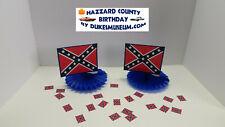DUKES OF HAZZARD-  HAZZARD COUNTY BIRTHDAY DECORATIONS- FLAG FANS CONFETTI