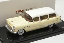 1954 Buick Century Estate Wagon White Model Car in 1:43 Scale by TSM