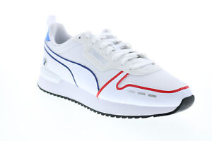 Puma Bmw Mms R78 30678602 Mens White Motorsport Inspired Sneakers Shoes