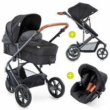 Hauck Kombi Kinderwagen Buggy Set 2in1 Pacific 3 inkl. Babyschale -  Caviar