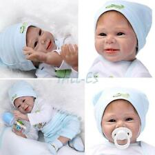 Reborn Baby Doll Soft Silicone vinyl Lovely Lifelike Cute Baby Toy 22inch New