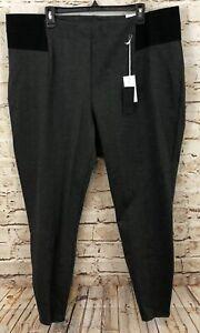 Lane Bryant women 20 ponte knit leggings pants gray new pull on innersculpt G3O4