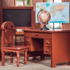 "18"" Doll Furniture SCHOOL TEACHER DESK GLOBE & CHALK BOARD SET Fit American Girl"