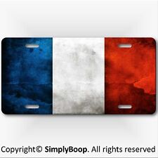French Flag Aluminum Vanity License Plate France Abstract distressed Look New!