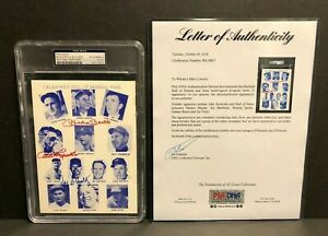Mickey Mantle Spahn Bench + 10 others PSA / DNA Autographed Tulsa Oilers Program