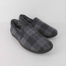 Marks and Spencer Theo Thermal Slippers with Freshfeet Size 7 Grey Check