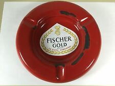 Grand cendrier  de comptoir fischer gold  biere beer TABAC TABACCO email