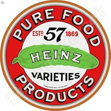 HEINZ PURE FOOD PRODUCTS 11.75in ROUND METAL SIGN