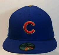 Chicago Cubs New Era 59Fifty 2016 WS gold patch On-Field NEW sz 7 3/4