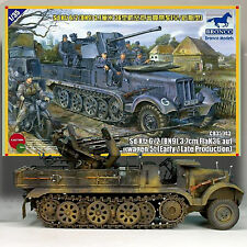 BRONCO MODELS 1/35 WWII GERMAN SD.KFZ.6/2 WITH 3.7 FLAK.36 AUF  KIT 35043