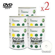 1000 Grade A+ Smartbuy Blank 16X DVD-R 4.7GB White Top Storage Recordable Disc