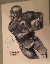 Joe Montana Signed 8x10 Pencil drawing limited edition global authentication.