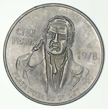 SILVER - WORLD COIN - 1978 Mexico 100 Pesos - World Silver Coin *864