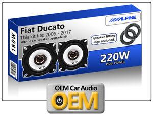 Fiat Ducato Front Door speakers Alpine car speaker kit with Adapter Pods 220W