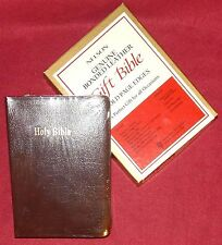 KJV Gift Bible by Nelson Publishing #275BR Brown Genuine Bonded Leather - New