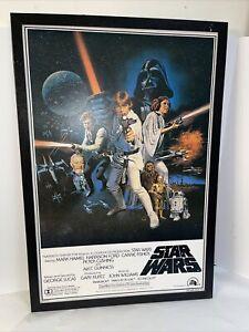 "1977 Star Wars Return A New Hope Theatre Board Glazed Poster One Sheet ""c"" 38x26"
