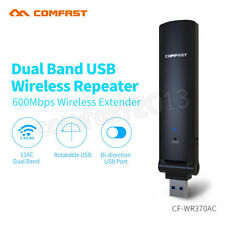 600Mbps 2.4G/5G Dual Band Wireless USB Repeater Amplifier WiFi Extender Booster