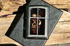 Zippo Lighter - Window Skull Emblem - European Release - Anne Stokes Collection