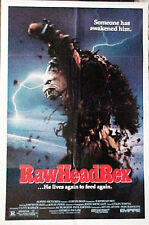 "Clive BARKER'S terror thriller -- ""RAWHEAD REX"" -- NOW he is awake !! / poster"