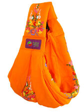 New Baba Sling Baby Carrier Embroidery Orange Mexican Embroidered