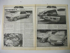 HOLDEN HQ SS MEMORIES 10 YEARS ON 2 PAGE MAGAZINE ARTICLE