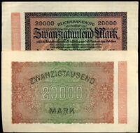 ALLEMAGNE  20000 MARK 1923  ( billets neuf )  ( bis )