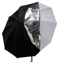 80cm 33inch 2in1 sliver reflector/White Diffuser Umbrella for flash speedlite