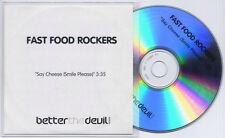 FAST FOOD ROCKERS Say Cheese (Smile Please) UK 1-trk promo test CD